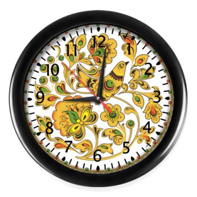 Настенные часы 'Хохлома'
