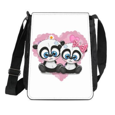 Сумка-планшет Маленькие панды