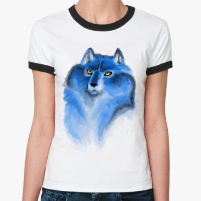 Женская футболка Ringer-T волк