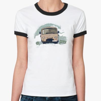 Женская футболка Ringer-T Good winter day