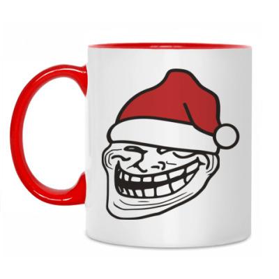 Кружка Новогодний Trollface