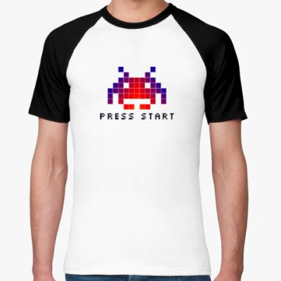 Футболка реглан Space invader (8bit)