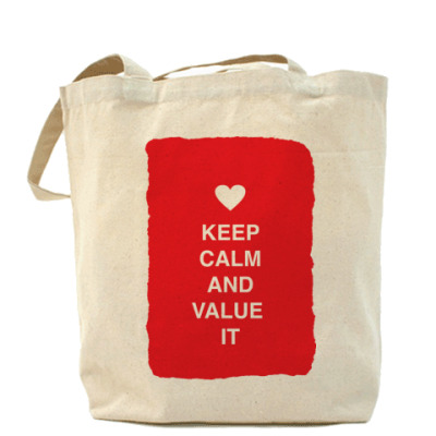 Сумка Keep calm and value it