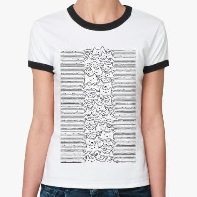 Женская футболка Ringer-T Cat Division