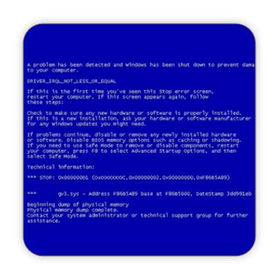 Костер (подставка под кружку) Синий экран смерти