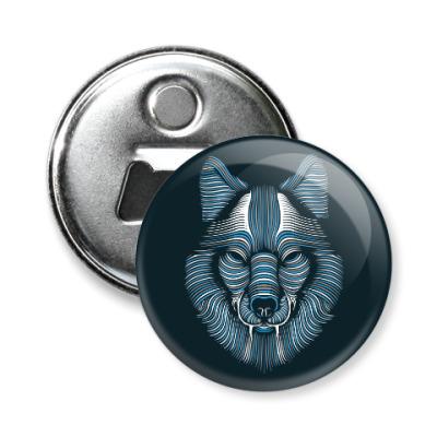 Магнит-открывашка Волк