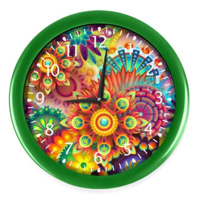 Настенные часы Абстрактная иллюстрация