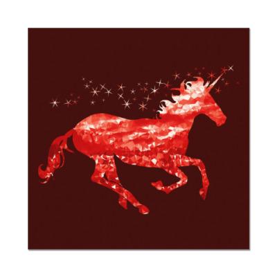 Наклейка (стикер) Рубиновый Единорог