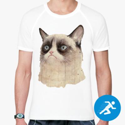 Спортивная футболка Grumpy Cat / Сердитый Кот