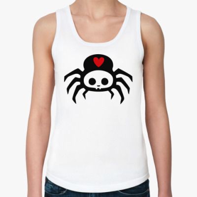 Женская майка Spider Skull