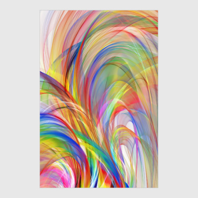 Постер abstract art colorful design
