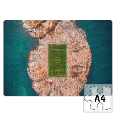 Пазл Море Остров Горы Футбол