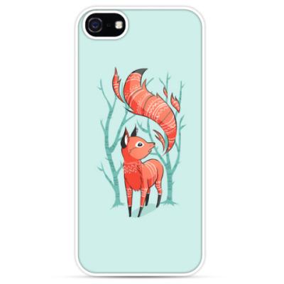 Чехол для iPhone Зимняя лисичка