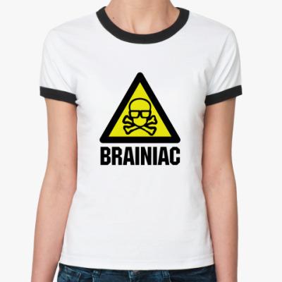 Женская футболка Ringer-T brainiac
