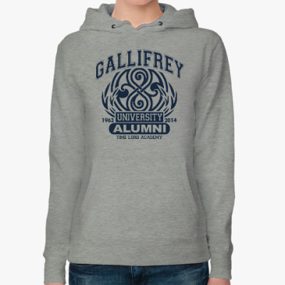 Женская толстовка худи Gallifrey University Alumni