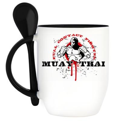 Кружка с ложкой Muay Thai