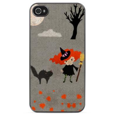 Чехол для iPhone Ведьмочка и кот