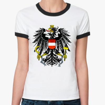 Женская футболка Ringer-T Герб Австрии