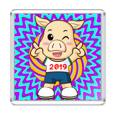 Магнит Piggy Boy
