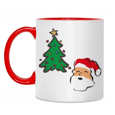 Кружка Дед Мороз и елка