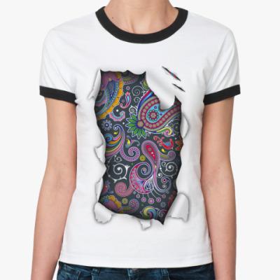 Женская футболка Ringer-T Пейсли