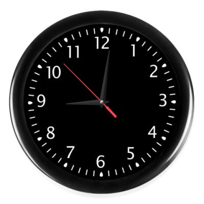 Часы Глубокий черный цвет
