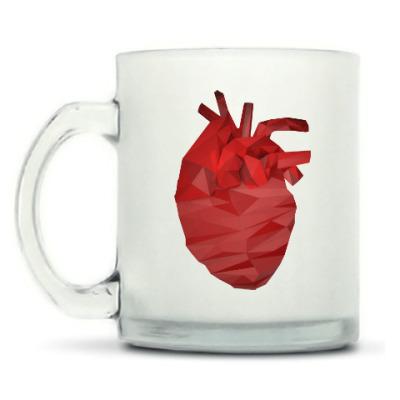 Кружка матовая Сердце 3D