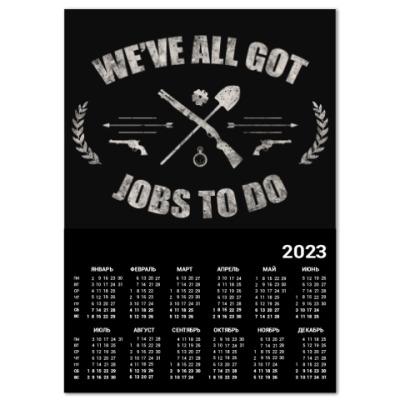 Календарь Walking Dead Ходячие мертвецы