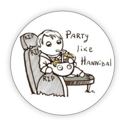 Костер (подставка под кружку) Party Like Hannibal ( Ганнибал )