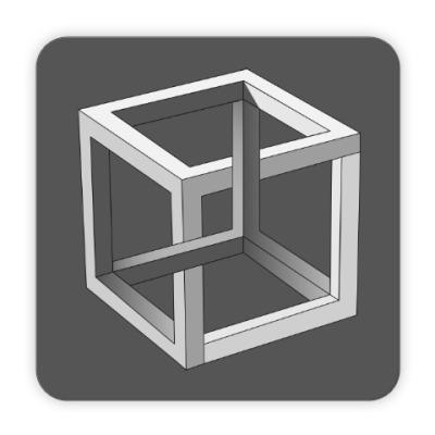 Костер (подставка под кружку) Невозможный Куб 3D