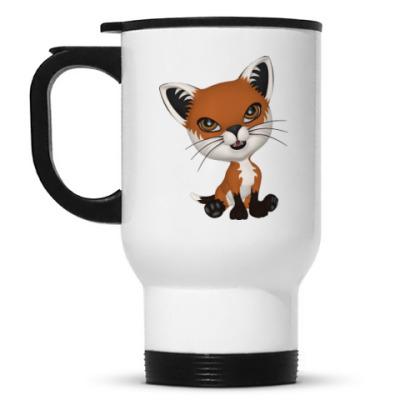 Кружка-термос Рыжий котенок