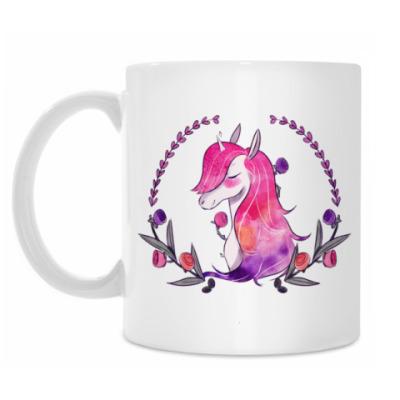Кружка Flowers Unicorn