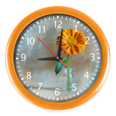 Настенные часы Цветок календулы