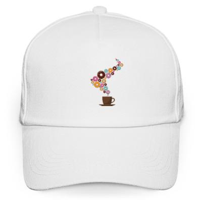 Кепка бейсболка Кофе с пончиками