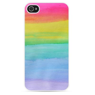 Чехол для iPhone Акварельная радуга