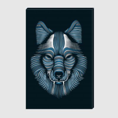 Холст Волк
