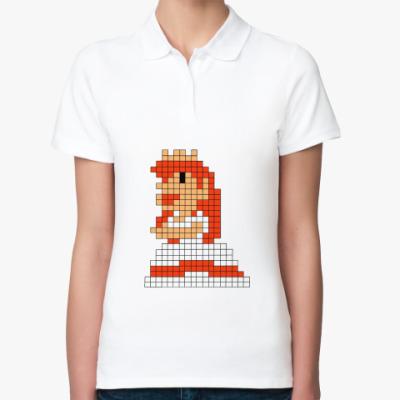 Женская рубашка поло Принцесса Марио 8 бит