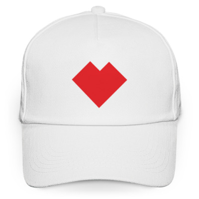 Кепка бейсболка Сердце танграм