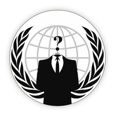 Костер (подставка под кружку) Анонимус