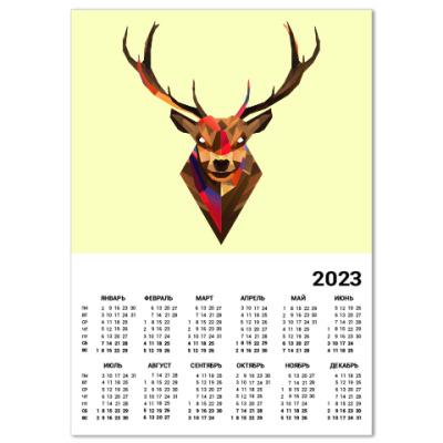 Календарь Олень