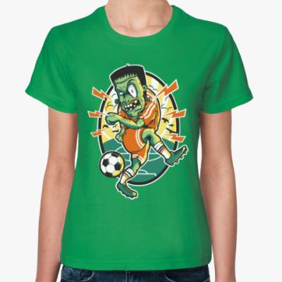 Женская футболка Зомби Футбол!