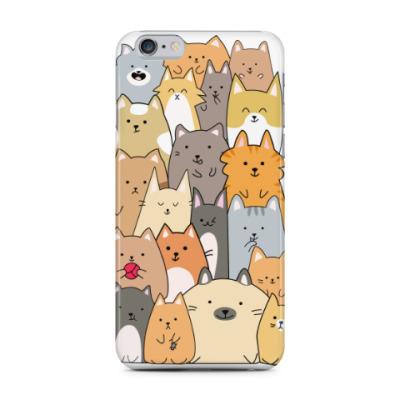 Чехол для iPhone 6 Plus Смешные коты (funny cats)