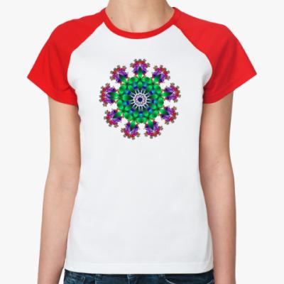 Женская футболка реглан Калейдоскоп