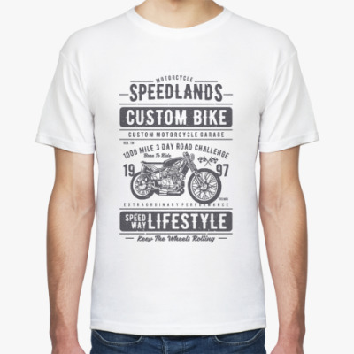 Футболка Custom Bike Motocycle Speedlands Real Biker