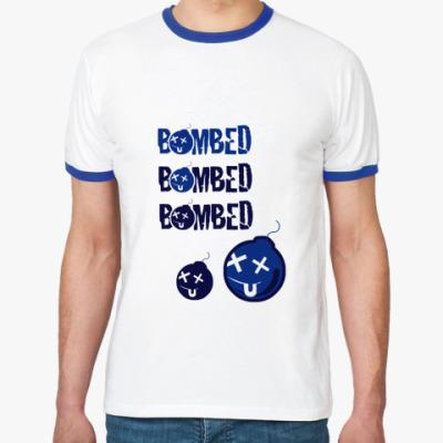 Футболка Ringer-T bombed