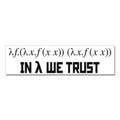 Наклейка (стикер) In lambda we trust!