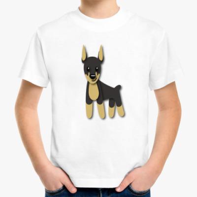 Детская футболка Доберман
