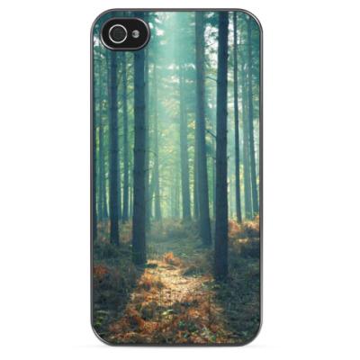 Чехол для iPhone Лес туман
