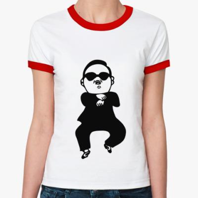 Женская футболка Ringer-T В стиле гангнам (gangnam)