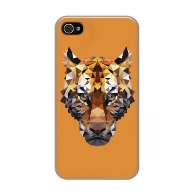 Чехол для iPhone 4/4s Тигр / Tiger